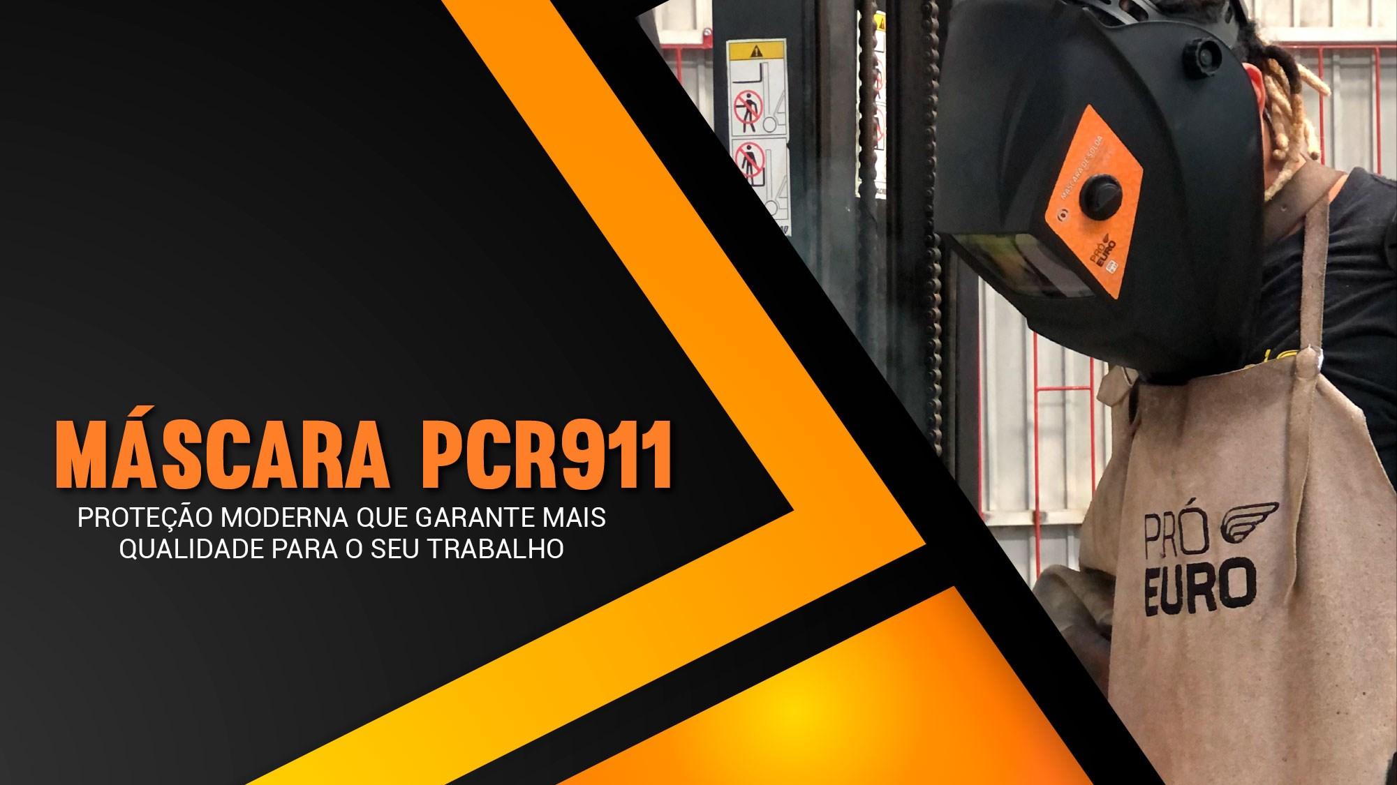 Máscara PCR911 Pró Euro, proteção moderna garante mais qualidade para o seu trabalho