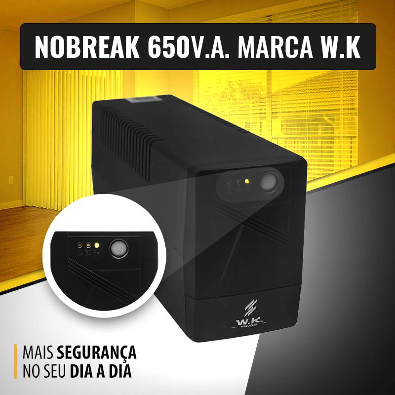 Nobreak 650va 127v  Marca W.K.