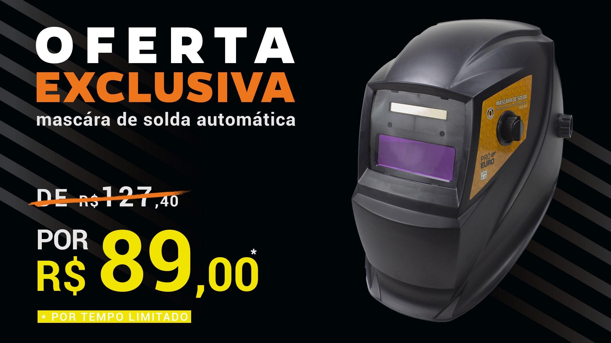 Oferta Exclusiva Máscara de Solda Automática Pró Euro