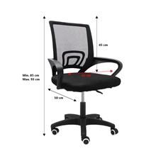 Cadeira de escritório secretária preta jp30 - pró euro