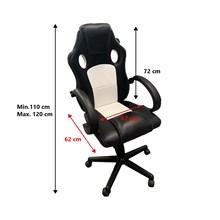 Cadeira gamer ergônomica giratória seul branca pró euro