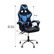 Cadeira gamer reclinável giratória tokio azul pró euro