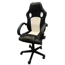 Cadeira Gamer Seul - Preto/ Branco - Pró Euro