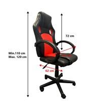 Cadeira Gamer Seul Preto/ Vermelho- Pró Euro