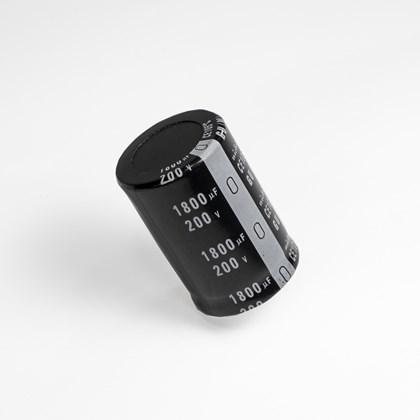 Capacitor eletrolitico 1800uf x 200v 30mm x 50mm 105°c pró euro