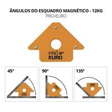 Esquadro magnético 12 kg para solda - pró euro