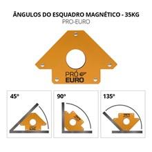 Esquadro magnético 35 kg para solda - pró euro