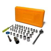 Kit de chaves jogo catraca soquete 40 peças pró euro