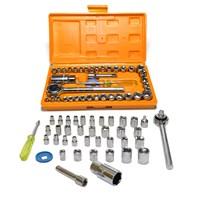 Produto Kit de chaves jogo catraca soquete 40 peças pró euro