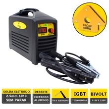 Kit maquina solda inversora german tools gt 170 bivolt + 1 esquadro 12kg