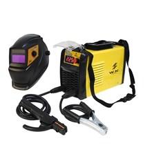 Máquina de solda inversora 225a 220v + máscara automática com regulagem - wk