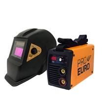 Máquina de solda inversora gp 165a - bi-volt - pró euro + máscara preta