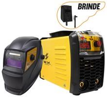 Máquina de solda inversora wk 225a 220v + máscara automática