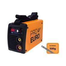 Máquina solda inversora 165a bivolt pró euro + 500g eletrodo