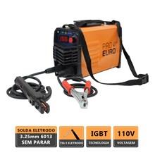 Maquina solda inversora gp 155 127v pro euro + aterrador magnetico para soldas eletricas