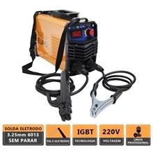 Maquina solda inversora gp 160 220v mod 2020 pro euro + mascara pcr-912 + 2 esquadros magneticos 12kg
