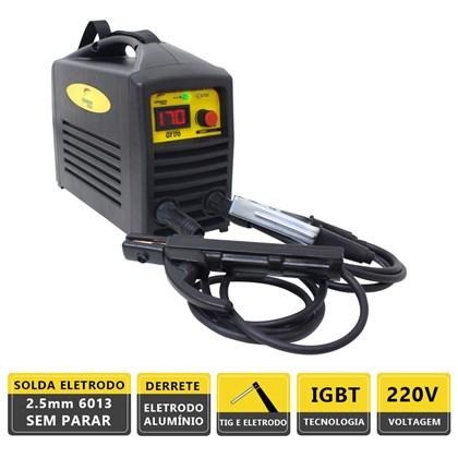 Máquina solda inversora gt 170a 220v german tools