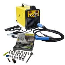 Maquina solda inversora mig/mma wk 230 220v wk + kit chave jogo catraca soquete 40 peças