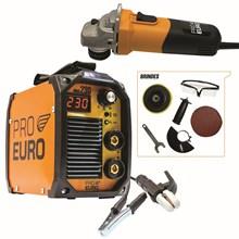 Maquina solda inversora mma 230 - 220v - pro euro + esmerilhadeira 220v