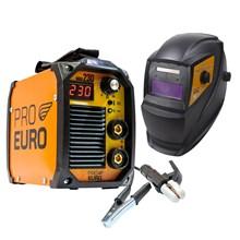 Maquina solda inversora mma 230 - 220v - pro euro + mascara pcr-911