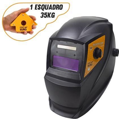 Mascara de solda automatica pro euro pcr-911 + esquadro magnetico 35kg