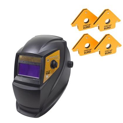 Mascara de solda automatica pro euro pcr-912 + 4 esquadros magneticos 12kg