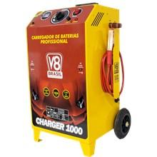 Semi novo - carregador de bateria 100a charger 1000 bivolt v8 brasil