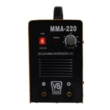 Semi novo - máquina de solda inversora mma 220 dc 220v v8 brasil