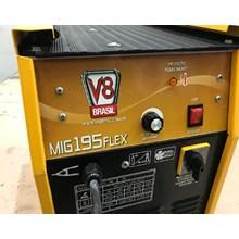 Semi novo - máquina solda mig 195 flex 220v v8 brasil